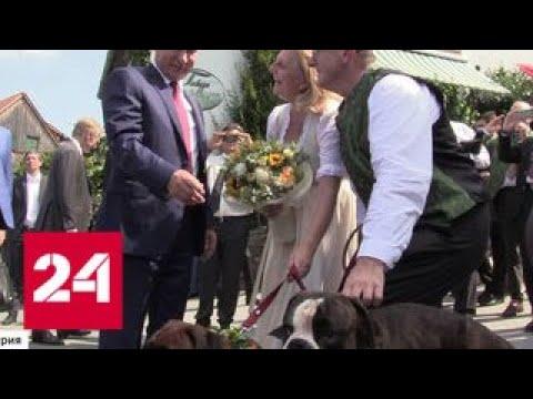 На свадьбе в