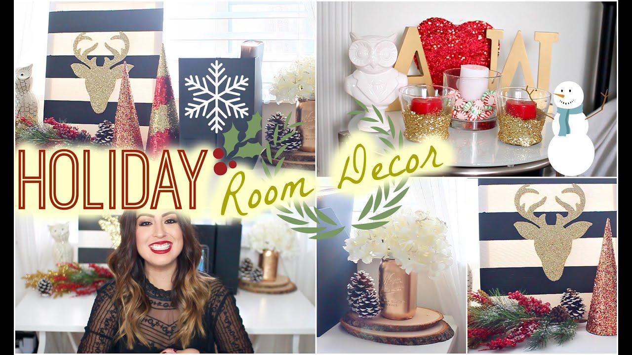 Diy Holiday Bedroom Decor Easy Festive Youtube