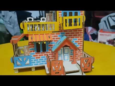 Lắp ráp mô hình nhà bằng gỗ  [ Country Cottage Model ]  Woodcraft Assembly kit 3D