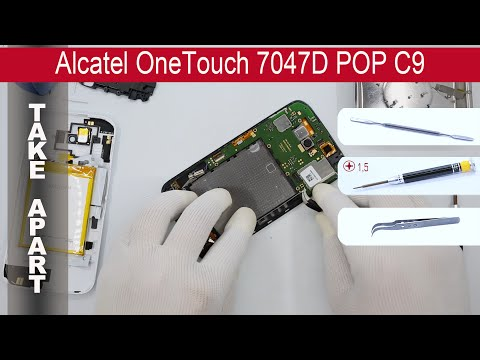 How to disassemble 📱 Alcatel OneTouch POP C9 7047D, Take Apart, Tutorial