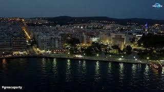 Θεσσαλονίκη  by night!!!  4k drone video
