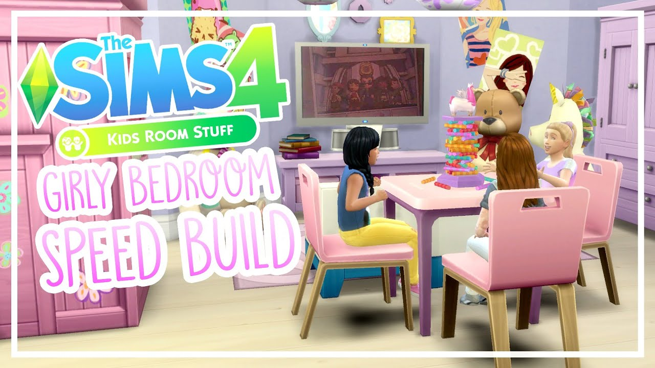 The Sims 4 Kids Stuff Pack   Speed Build | Girly Bedroom   YouTube