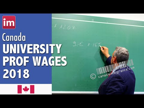 University Professor Salary In Canada (2018) - Wages In Canada