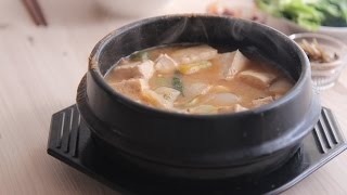 [SUB] 그냥 된장찌개:간단요리&simple K-food:How to make doenjang jjigae (Bean paste stew)