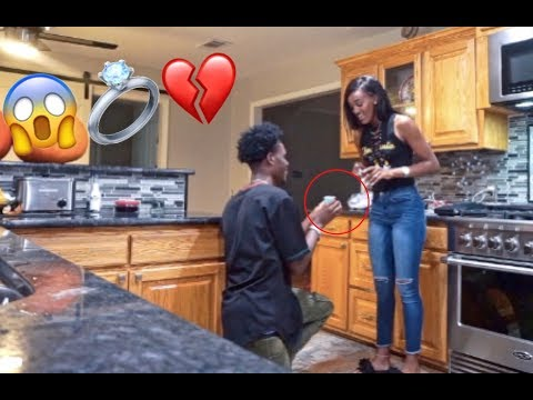 MARRIAGE PROPOSAL PRANK ON GIRLFRIEND!!! (GONE WRONG)