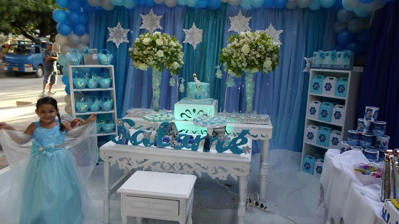 Decoraci n fiesta frozen youtube - Ideas para decorar fiestas ...