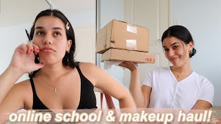 online school struggles & mini unboxing haul