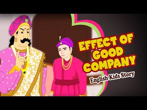 English Moral Story - Effect of Good Company | English Story For Kids | Moral Stories For Kids