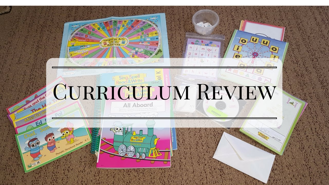 Curriculum Review Sing Spell Read & Write Level K
