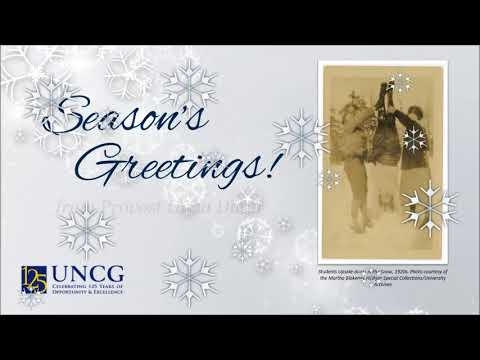 2017 UNCG Provost's Holiday Card