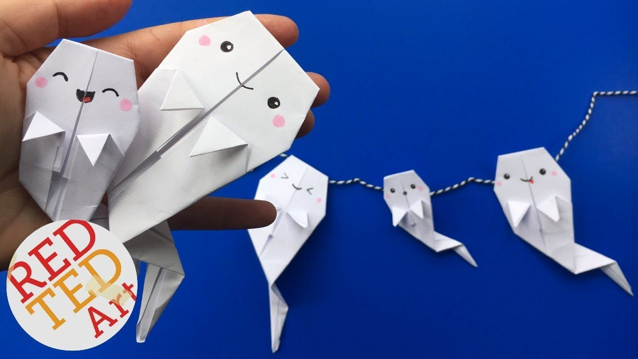 Origami ghost diy easy paper ghost garland love this easy origami ghost diy easy paper ghost garland love this easy paper ghost diy jeuxipadfo Choice Image