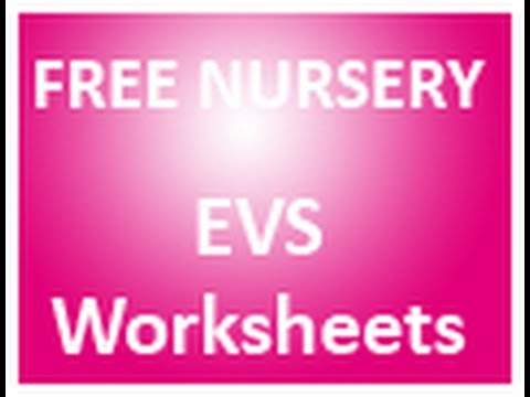 Free Printable worksheets for EVS Nursery children - YouTube