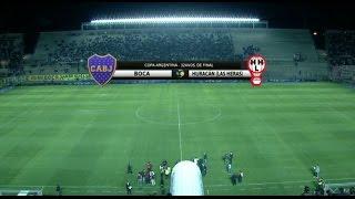 Fútbol en vivo. Boca - Huracán Las Heras. 32 avos Copa Argentina. FPT.