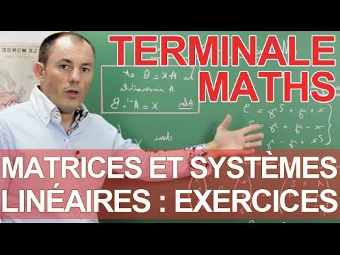 BMX et matrice Terminale Mathématiques