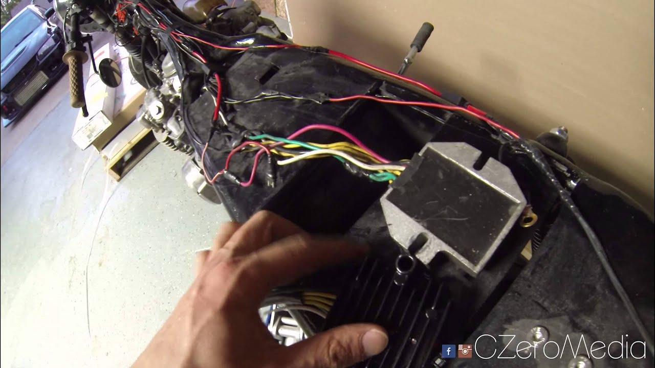 medium resolution of  75 honda cb550 cafe racer build pt 61 new voltage reg rectifier