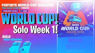 🔴 World Cup Solo! // Week 1 // Fortnite Battle Royale