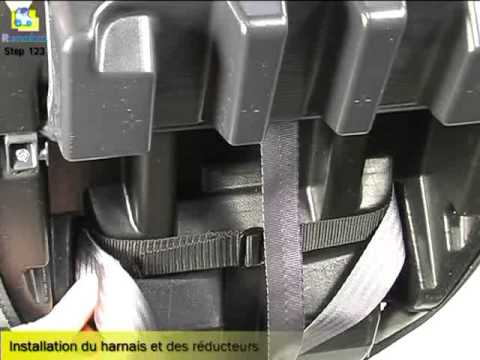 renolux installation du harnais de si ge auto step 123 youtube. Black Bedroom Furniture Sets. Home Design Ideas