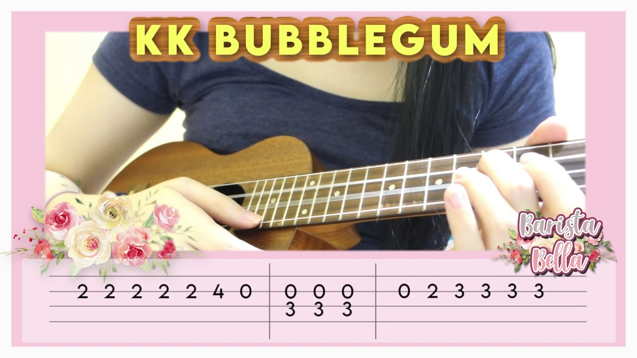 Ukulele Chord Bubblegum K K From Animal Crossing Easy Version Youtube