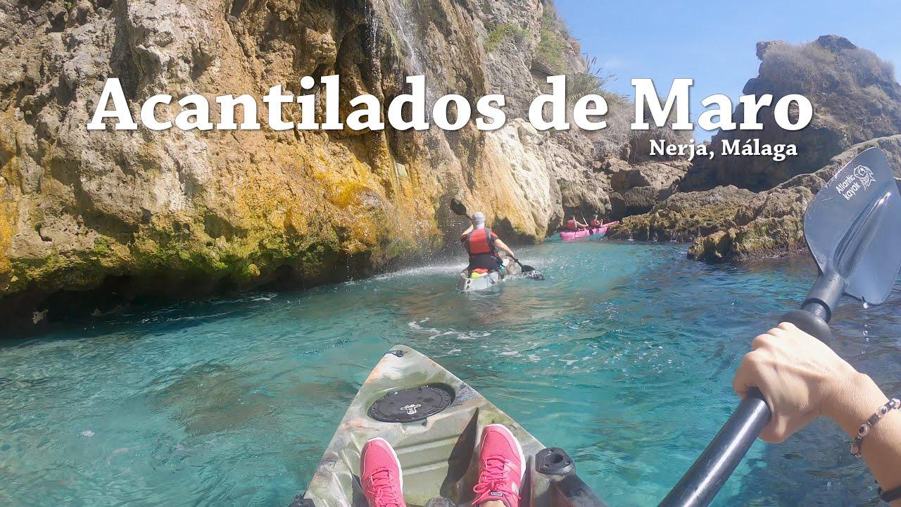 Acantilados de Maro en Kayak, Málaga (España) ¡Vive la Montaña! ¡Descubre Málaga!