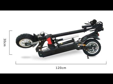 FLJ новейший электрический скутер с сиденьем электросамокат складной купить на Алиэкспресс