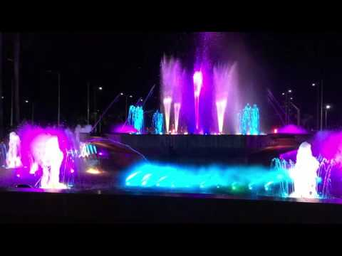 Interactive musical fountain in Manila