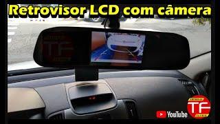 Câmera de ré com imagem no retrovisor Lcd interno do carro