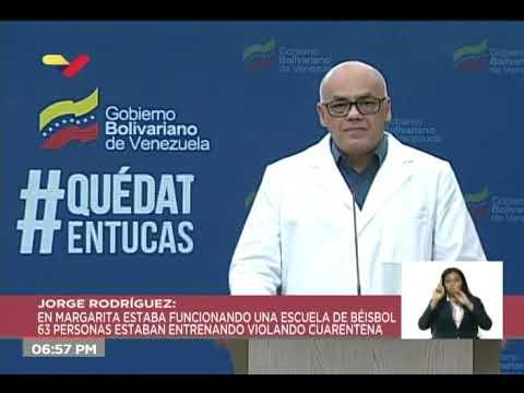 Reporte Coronavirus Venezuela, 17/04/2020: Escuela de béisbol viola cuarentena y causa 20 casos