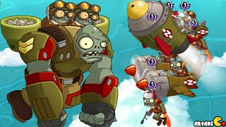 Plants Vs Zombies 2: Sky Castle World EPIC AIR FORCE WAR BATTLE! (PVZ 2 China)