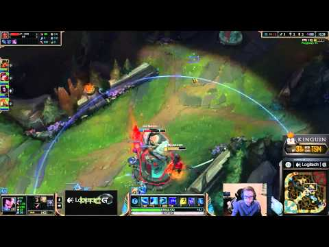 Bjergsen duo Meteos - Yasuo vs Talon Mid - League of Legends