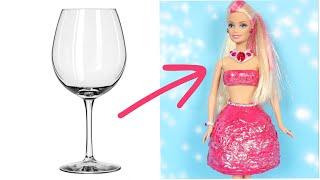 ŞAŞIRTICI BİR FİKİRLE BARBIE KIYAFET YAPIMI ~ 5 Dakikada Hallet DIY Barbie Kıyafetleri Nasıl Yapılır
