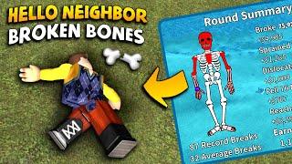 I Broke EVERY SINGLE BONE In The Neighbor's Body!!!   Roblox Broken Bones (Hello Neighbor Edition)