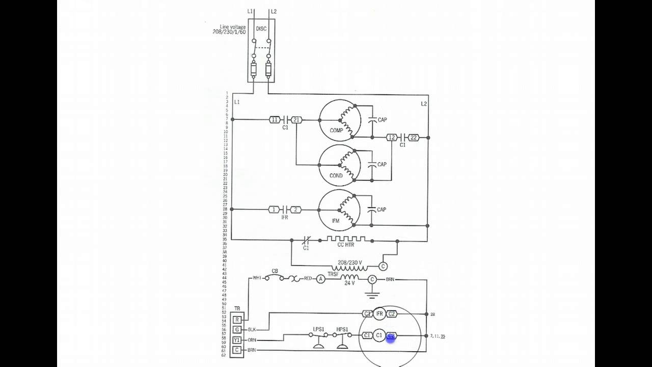 Heat Pump Ladder Wiring Schematic Great Installation Of Simple Electrical Diagrams 208v Nate Ac And Pumps Troubleshooting Electric Circuits Youtube Rh Com York Thermostat Breaker Size