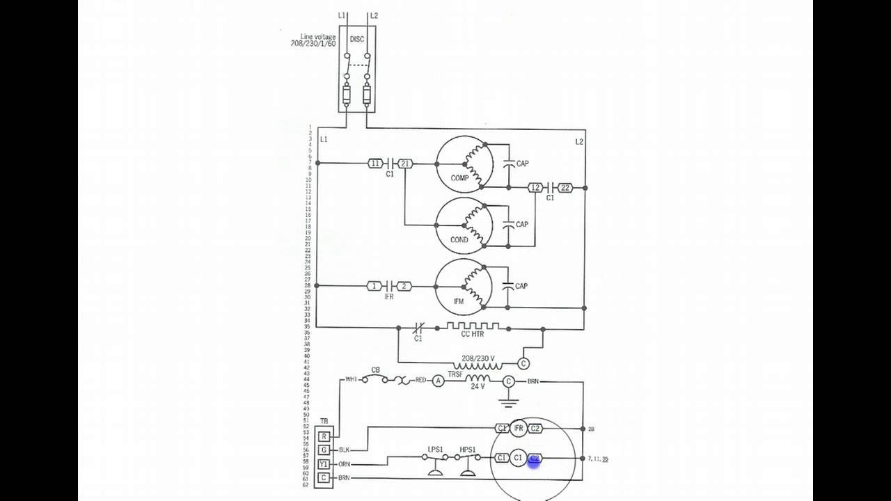 basic heat pump schema cablage