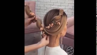 видео Прически с цветами