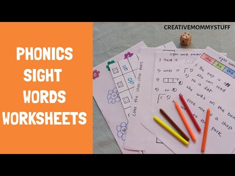 Phonics Sight Words Practice Worksheets | DIY Phonics Worksheets | Literacy Worksheets For Preschool