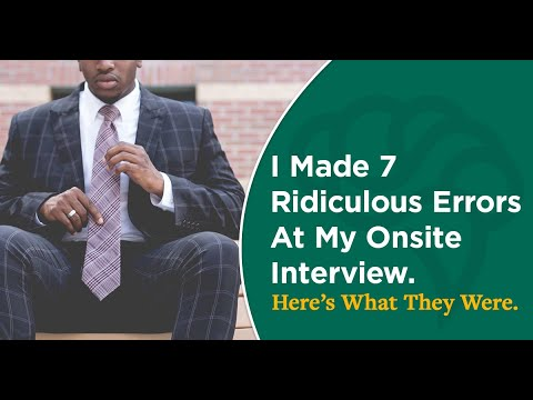 I Made 7 Ridiculous Errors At My Onsite Interview  Here's