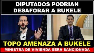 BUKELE FUE AMENAZADO POR  GUSTAVO LOPEZ DE QUITARLE EL FUERO POLITICO