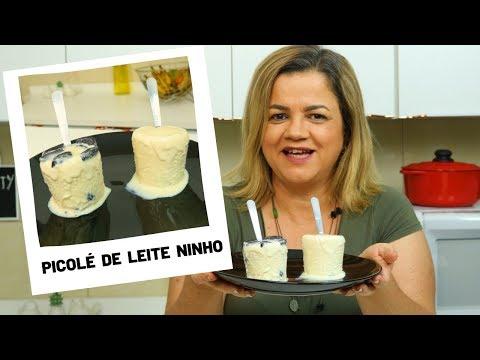 Picolé de Leite Ninho - Sorvete de Leite Ninho