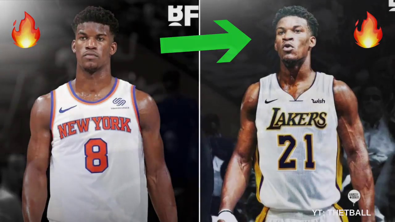 buy popular 42296 06011 Top 3 Trade Ideas For Jimmy Butler   Joining the Los Angeles Lakers With  LeBron James & Lonzo Ball?