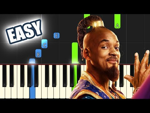 Arabian Nights - Aladdin 2019 (Will Smith) | EASY PIANO TUTORIAL By Betacustic
