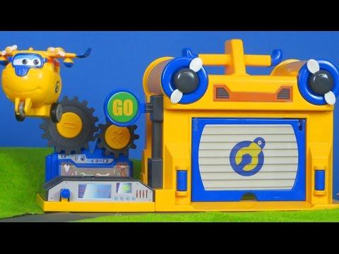 Super Wings Unboxing: Donnie´s Werkstatt & mehr Spielzeug für Kinder | Kinderkanal deutsch