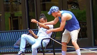Handcuffing People Prank