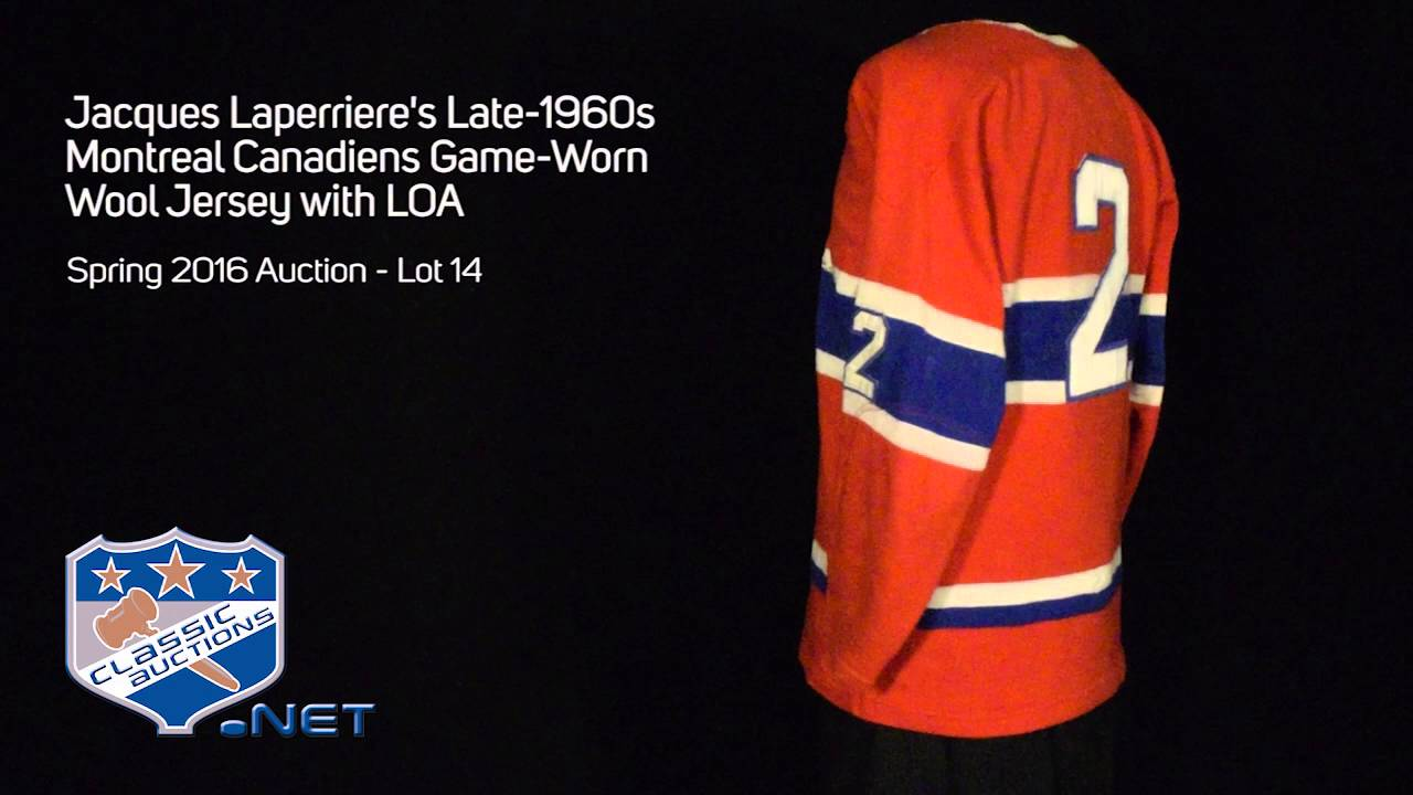 best website 28cc8 080e4 Lot Detail - Jacques Laperriere's Late-1960s Montreal ...