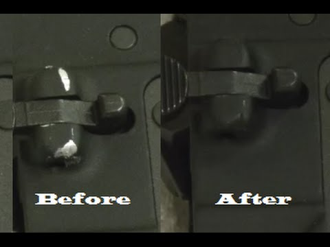 How to fix your scratched ar15 Birchwood Casey Aluminium