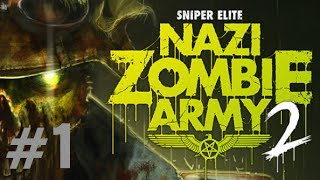 Sniper Elite: Nazi Zombie Army 2 Gameplay Walkthrough Part 1 Solo PURGATORY