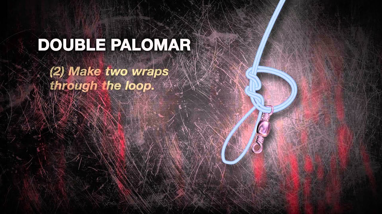 How To Tie A Double Palomar Knot Youtube