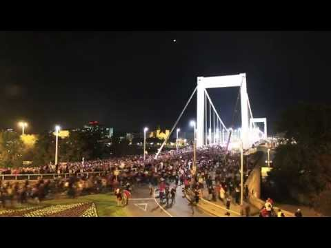 Protests against the planned Internet taxation in Hungary