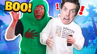 scaring gamers in fortnite... (and lazarbeam office)