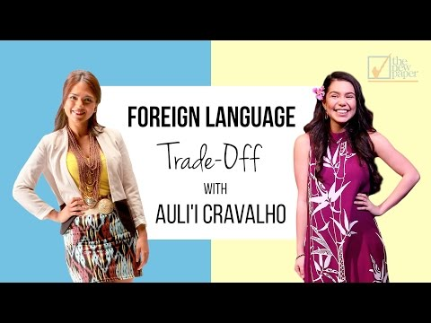 Foreign Language Trade-off with Moana star Auli