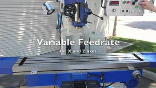 Eisen S-4AL Heavy Duty Milling Machine with EVS Spindle and Powerfeeds